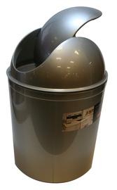 Plast Team Swing Round Waste Basket 21.3x21.3x31.5cm 5l Silver