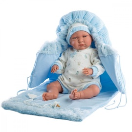 Lloerns Doll Lalo In Blue Blanket 42cm 74039