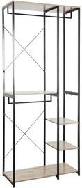 Verners Brasilia Shelf 900x2130x400mm Black/Wood