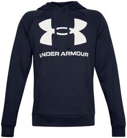 Under Armour Rival Fleece Big Logo Hoodie 1357093-410 Navy Blue L