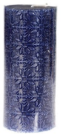 Verners Candle 6x13.5cm Blue/Silver