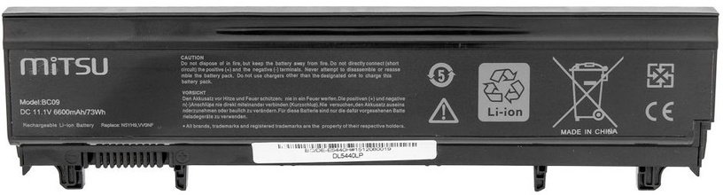 Mitsu Battery For Dell Latitude E5440/E5540 6600mAh