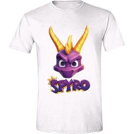 Licenced Spyro Face Logo T-Shirt White L