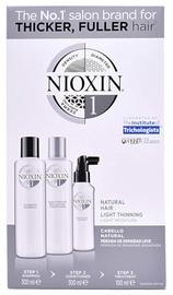 Nioxin System 1 Šampūnas, 300 ml + Plaukų kondicionierius, 300 ml + Plaukų purškiklis, 100 ml