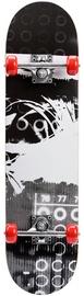 Meteor Wooden Skateboard Grey/Black 22619