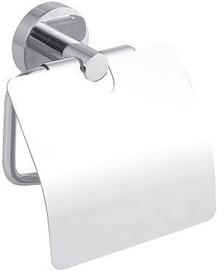 Tesa Smooz Toilet Tissue Holder With Lid Chromed Metal 40315