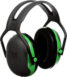3M Peltor X1A Protective Ear Caps Black/Green