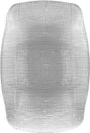 Dekor Cam SIS Clear Gray Serving Plate 26.5X18.5cm