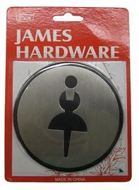 Durų ženkliukas moterų tualetui SN001-2 SS, 9,7 cm