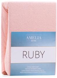 Palags AmeliaHome Ruby, rozā, 220x200 cm, ar gumiju
