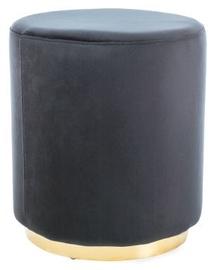 Пуф Signal Meble Furla Gold/Black, 42x42x48 см