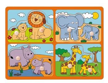 Puzle Woody Exotic Animals Educational 91914, 8 gab.