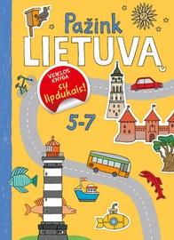 Knyga Pažink Lietuvą. Veiklos knyga su lipdukais