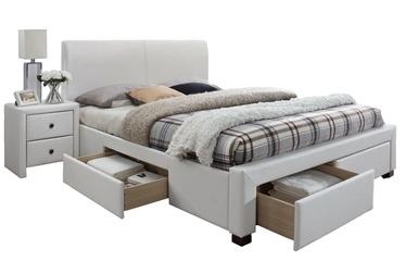 Voodi Halmar Modena 2 White, 160 x 200 cm