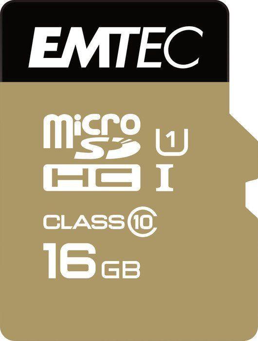 Emtec 16GB Gold+ microSDXC Class 10