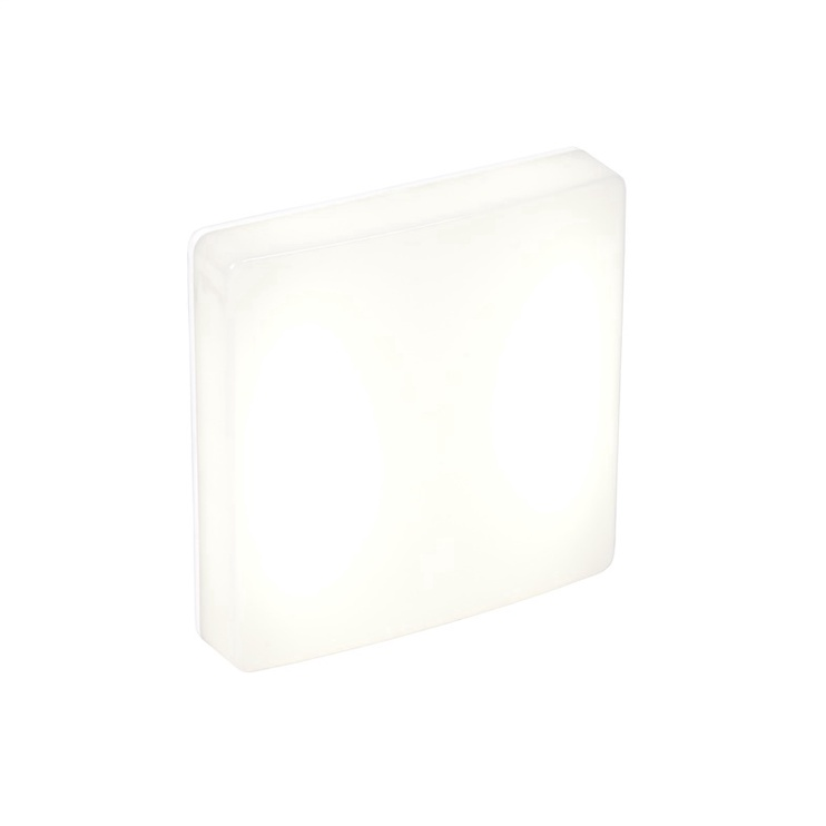 Lampa Lena Square 4000K IP54 LED, 10 W, balta