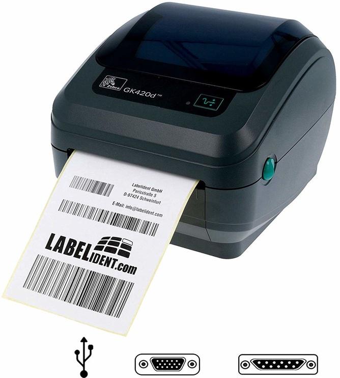 Принтер этикеток Zebra GK420d, 1400 г, серый