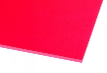 Ohne Hersteller Acrylic Glass GS Transparent Red 500x500mm