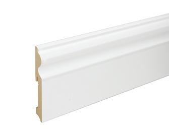 Põrandaliist valge krunditud 15X115X2400mm