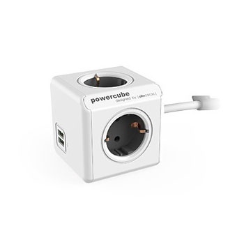 Allocacoc Powercube Extended 1.5m 4 Outlets