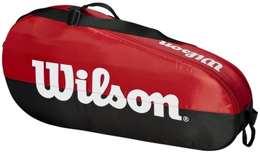 Wilson Team 1 Compartment Small Bag Black/Red