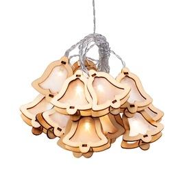 Elektriskā virtene DecoKing Crala Wooden Bell LED, 10 gab.