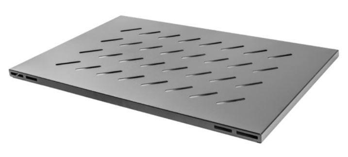 Полка Lanberg Fixed Shelf 19'' 465x715mm Black