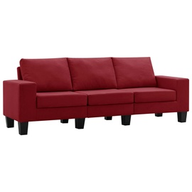 Диван VLX 3-Seated 287128, бордо, 70 x 198.5 x 75 см