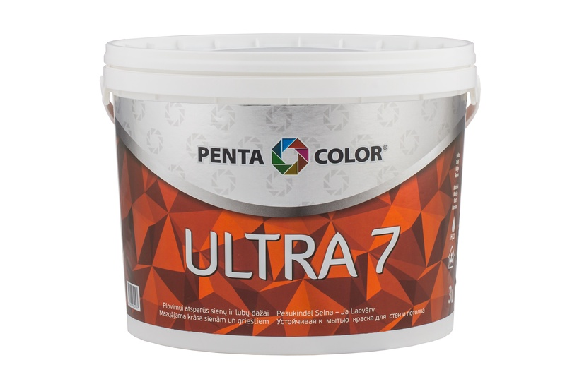 Disperijas krāsa Pentacolor ultra 7 balta 3l