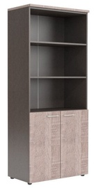 Skyland XTEN Office Cabinet XHC 85.5 Sonoma Oak/Dark Wood