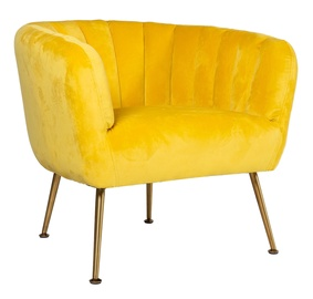 Fotelis Home4you Tucker Yellow, 78x71x69 cm