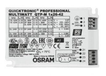 Paleidėjas Osram Launcher Quicktronic QTP-M 1x26-42W S