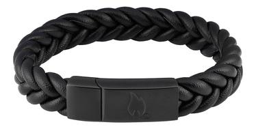 Käevõru Zippo Braided Leather Bracelet 22cm