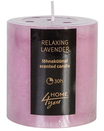 Home4you Candle Relaxing Lavender D6.8xH7.2cm