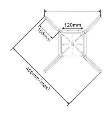 Multibrackets Projector Ceiling Mount 1600-3000mm