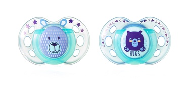 Tommee Tippee Night Style Silicone Soother 2pcs 43341365 18-36m