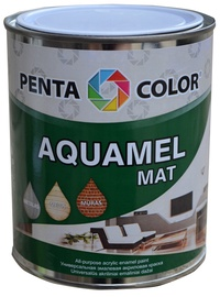 Krāsa Pentacolor Aquamel, 0,7kg, tumši brūna, matēta