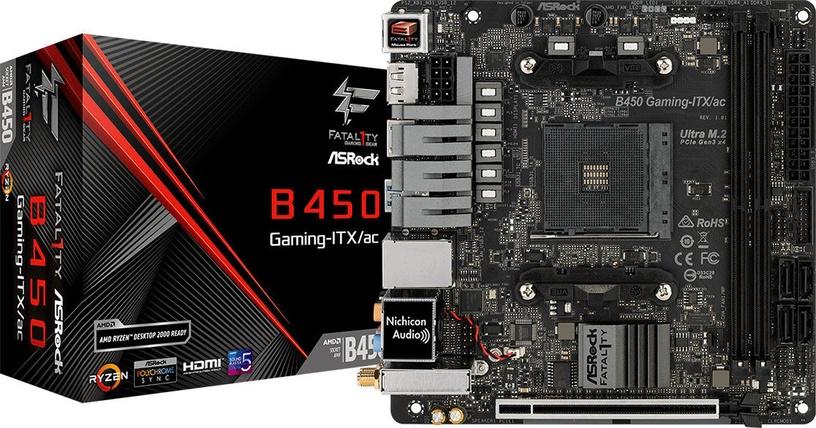 Mātesplate ASRock Fatal1ty B450 Gaming-ITX/ac