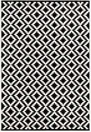 Ковер FanniK Isadora White/Black, многоцветный, 200 см x 290 см