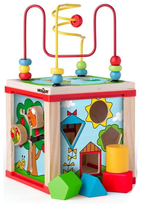 Woody Multi Activity Labyrinth Cube 91916