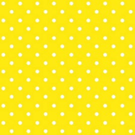 Paw Decor Collection Dots Intense Yellow 33 x 33 cm