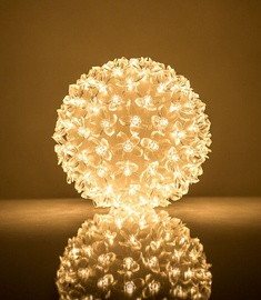 EV LED 100 Ball with Flowers Warm White D14cm