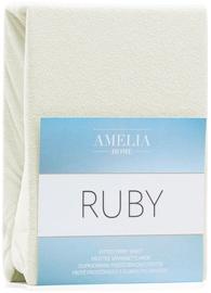 Palags AmeliaHome Ruby, bēša, 200x200 cm, ar gumiju