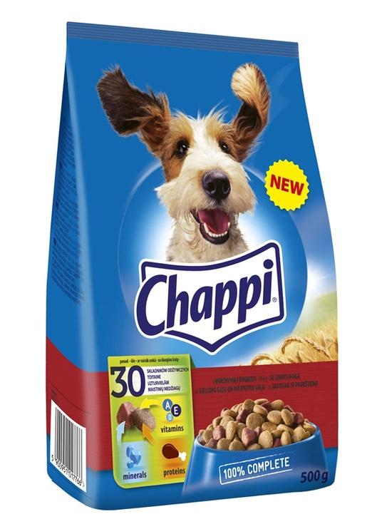 Sausas ėdalas suaugusiems šunims su jautiena ir vištiena Chappi, 500 g