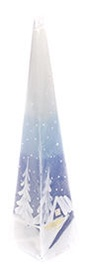 Verners Candle 25cm Blue/White