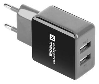 Natec Charger Adapter USB x2 Black/Grey