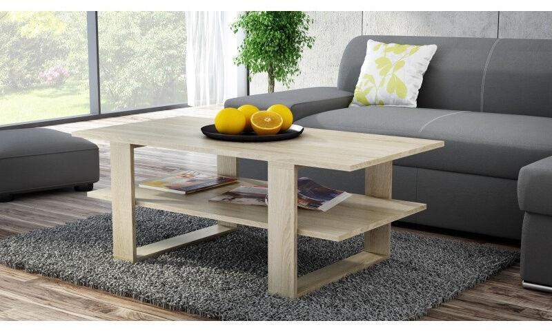 Kafijas galdiņš Top E Shop Martyna, ozola, 1200x600x550 mm