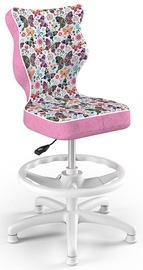 Entelo Petit Black HC+F Size 3 Children Chair ST31 White/Butterflies