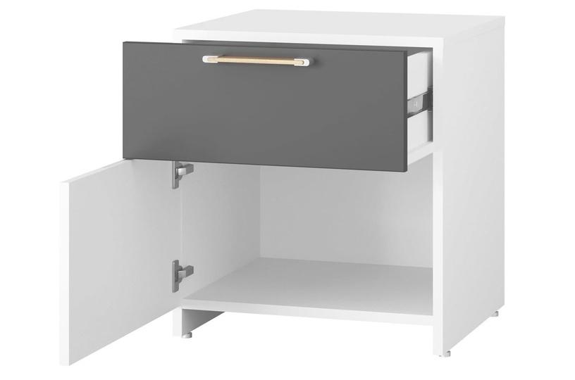 Naktinis staliukas Szynaka Meble Picolo 08 White/Grey