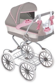 Dimian Bambolina Boutique Doll Pram Classic With Handbag Grey BD1606